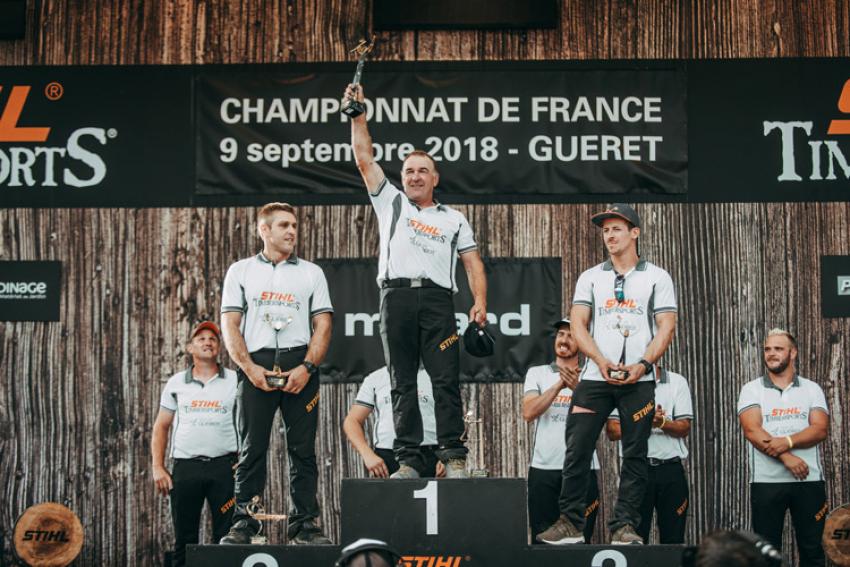 Finale des Championnats de France 2018 STIHL Timbersports® : Le vétéran Gilles Giguet décroche son sixième titre de Champion de France !