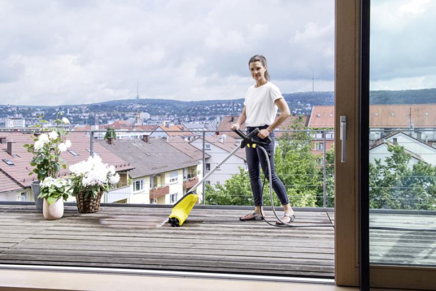 KARCHER HOME & GARDEN : Patio Cleaner PCL 4, le nouveau nettoyeur de terrasse pour un nettoyage en douceur et en profondeur de toutes les surfaces en bois ou en pierre sans altérer le support