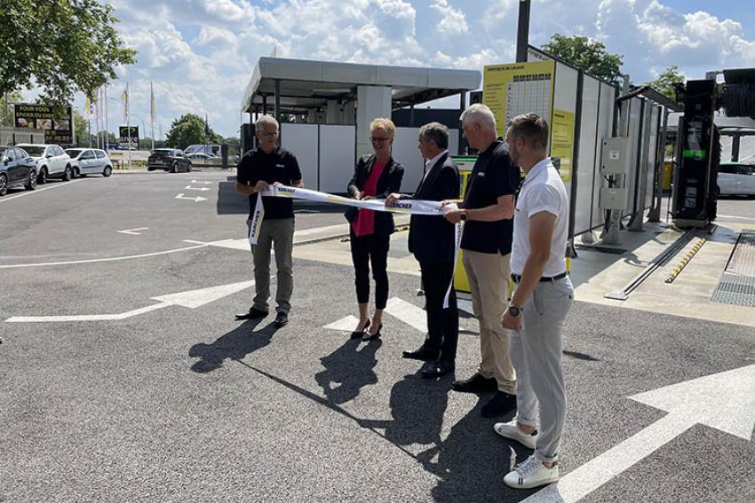 KÄRCHER FRANCE : La première station de lavage CleanPark autogérée -pour les professionnels et les particuliers- a été ouverte à Lisses (91) au mois de juillet