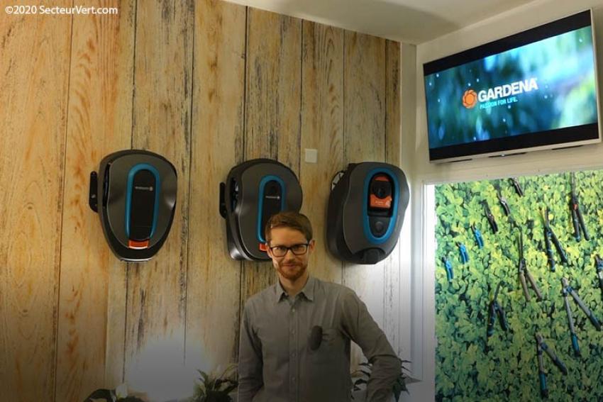 GARDENA : Victor MASSELOT présente les robots de tonte et autres objets connectés du Smart System, le 1er système de jardin contrôlable à distance