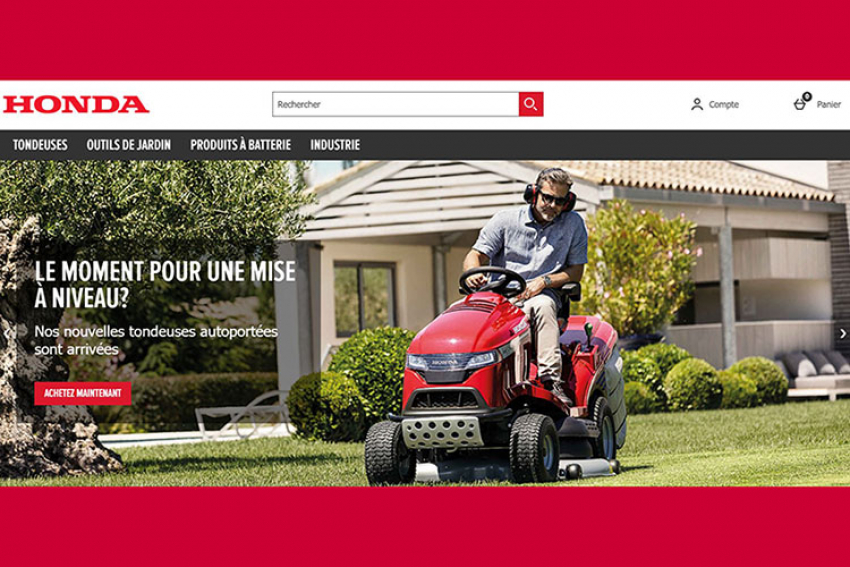 HONDA FRANCE annonce le lancement de son site e-commerce pour tous ses équipements de jardin