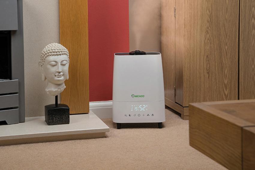 MEACO DELUXE 202, un humidificateur et purificateur d'air à ultrasons 2-en-1, pour un air plus sain, plus agréable à respirer et prévenir des infections hivernales