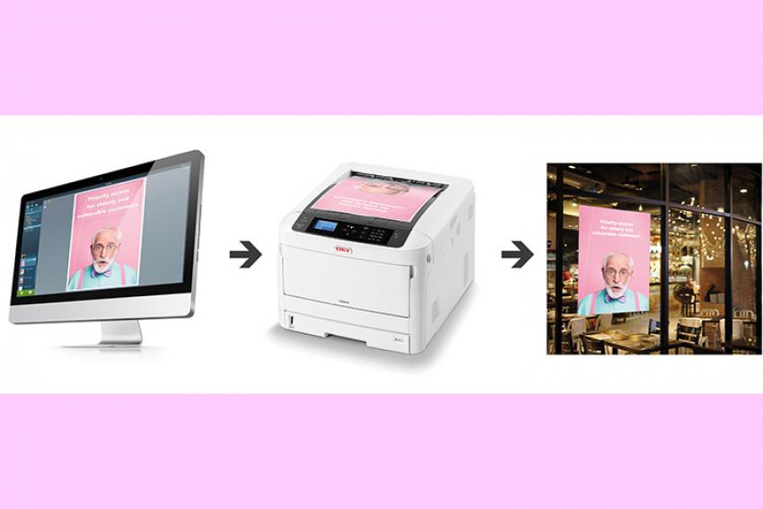 OKI EUROPE : Lancement avec The Design Hub, optimisé par Shoppa, d'un logiciel de création de signalétique professionnelles pour imprimer des communications visuelles à la demande
