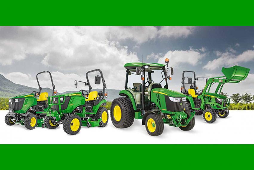 JOHN DEERE : En 2020, la gamme des tracteurs compacts se renforce avec le lancement de nombreuses nouveautés, 13 modèles « Stage V » de 25 à 66ch à faible impact environnemental