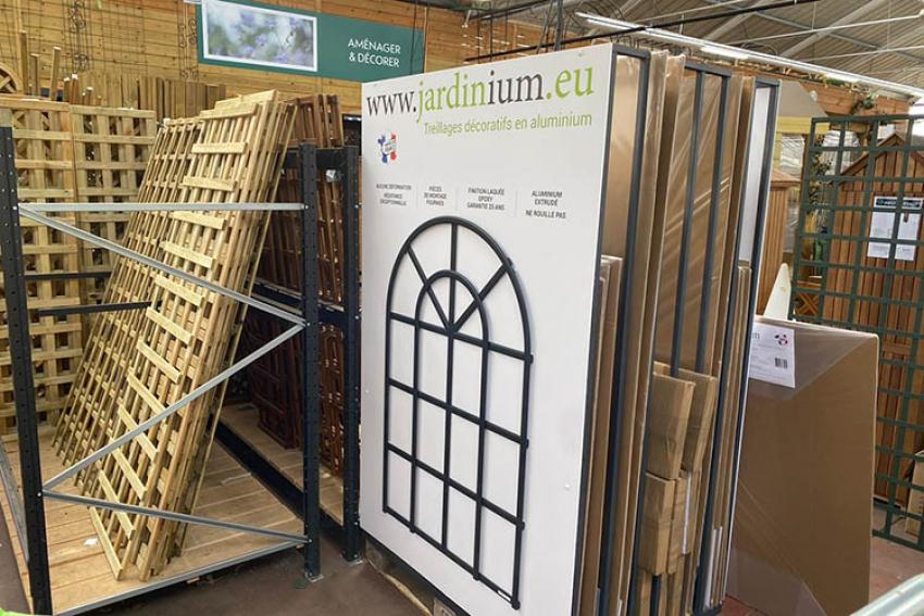 JARDIN'IUM : Découvrez les treillages de jardin décoratifs en aluminium « Made in France » dans plusieurs magasins Truffaut d'Ile-de-France, dès ce printemps 2020