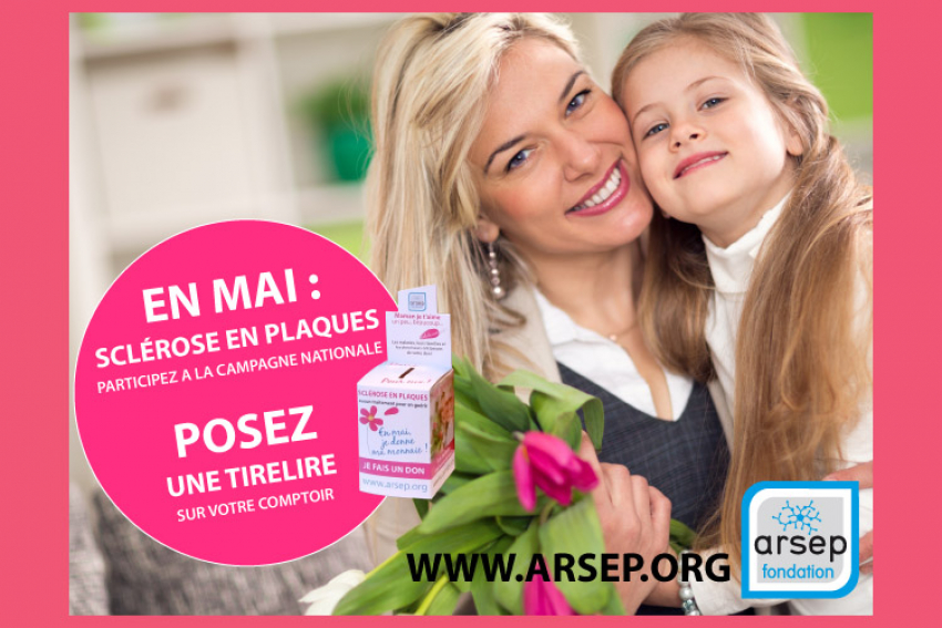 FONDATION ARSEP : Fleuristes solidaires, ensemble aux côtés des malades atteints de Sclérose En Plaques, tout le mois de mai 2021 et à l'occasion de la Fête des Mères