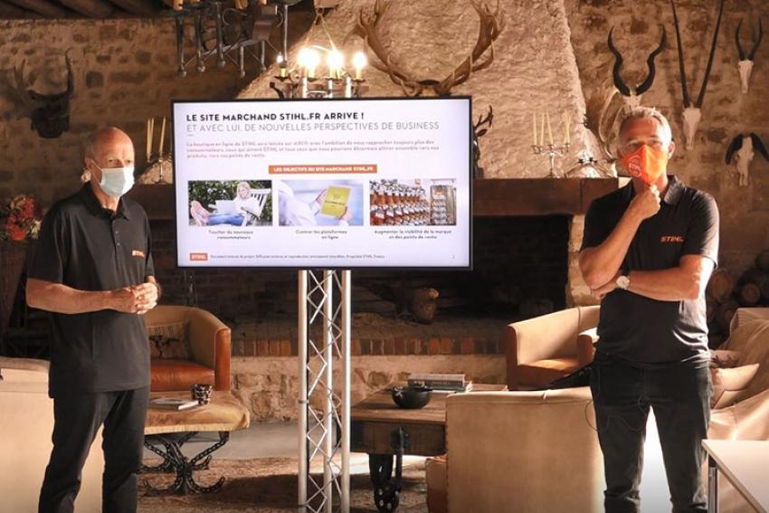 """STIHL France annonce, à Salonvert 2020, le lancement de son son site e-commerce """"Click and service"""" d'ici la fin de l'année"""