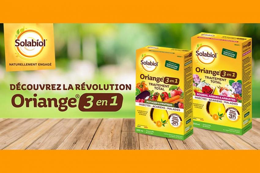 SBM LIFE SCIENCE : Oriange® 3en1, le nouveau Traitement Total Solabiol® du jardin à base d'huile essentielle d'orange, contre les acariens, les insectes et les maladies