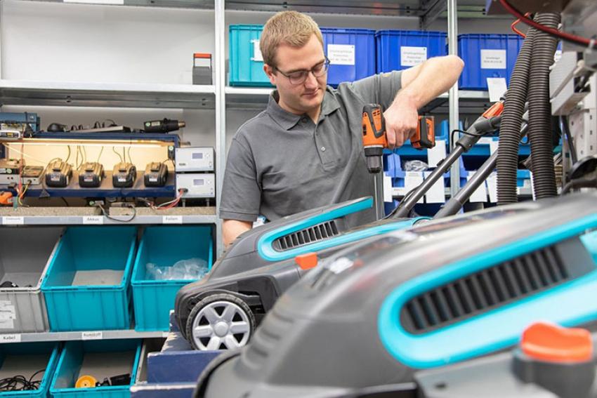 GARDENA : Les tondeuses électriques et sans fil de la série PowerMax™ et des tondeuses robots Sileno bénéficient d'un indice de réparabilité 'vert'