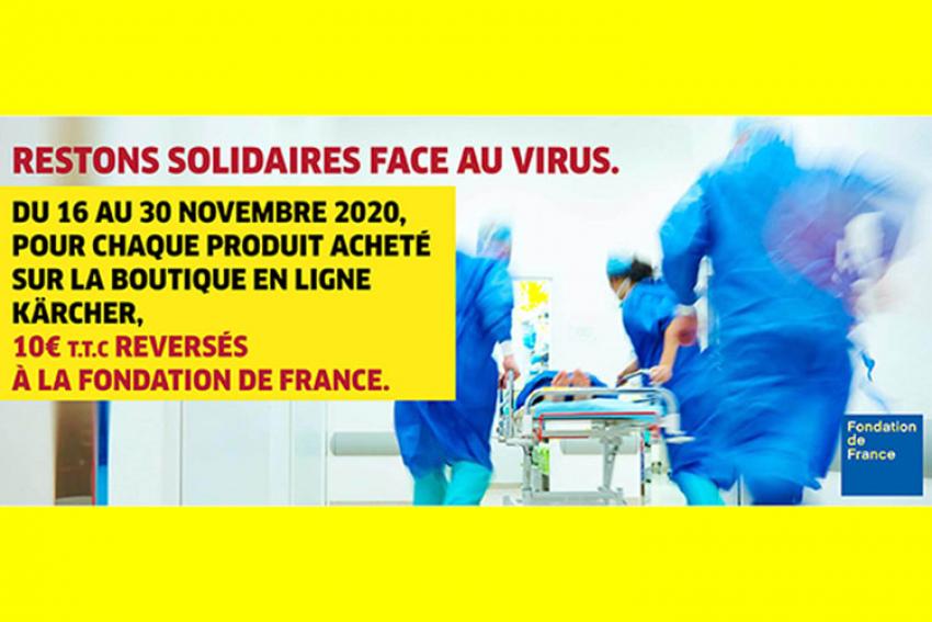 KÄRCHER FRANCE : Bilan de l'opération caritative destinée à soutenir la Fondation de France du 16 au 30 novembre 2020