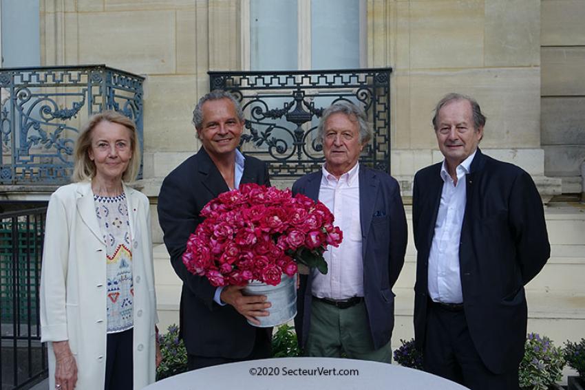PEPINIERES ET ROSERAIES GEORGES DELBARD : La nouvelle rose Berthe Morisot® a été officiellement baptisée le lundi 21 septembre 2020 à 17h30 au Musée Marmottan Monet à Paris