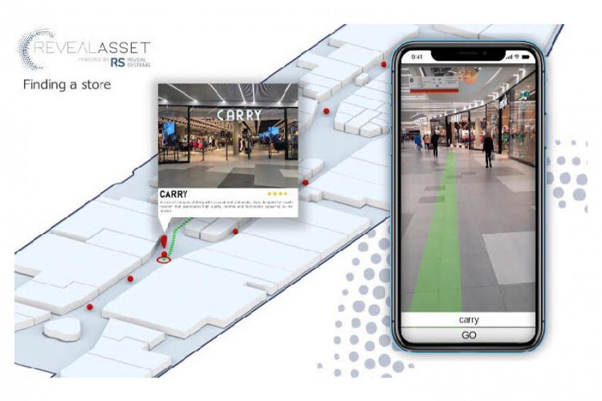 REVEAL SYSTEMS : La nouvelle application mobile AR Navigation conçue pour les opérateurs de centres commerciaux combine navigation et réalité augmentée sans avoir recours, ni au GPS ni au WiFi