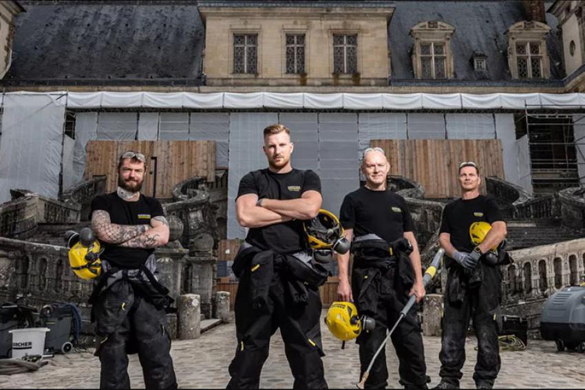 KÄRCHER : Spécialiste du nettoyage et en même temps… mécène de la restauration de l'escalier en Fer-à-Cheval du château de Fontainebleau !